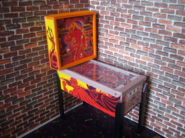 Fireball 2 1/12th Scale Miniature Pinball Table Model